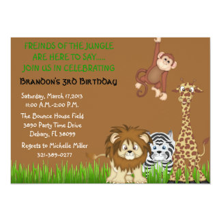 Cute Jungle Safari Invtiation Custom Invitation