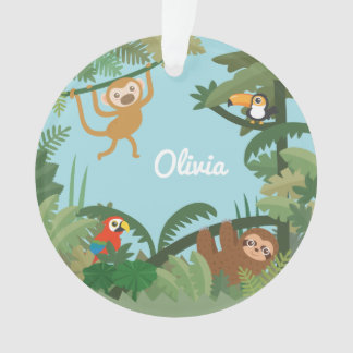 Cute Jungle Theme Nursery Decorative Ornament