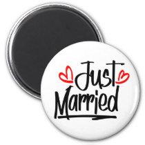 Cute Just Married Wedding Newlywed Bride MRS Magnet