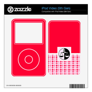 Cute Justice Scales Skins For iPod Video