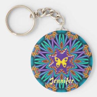Cute kaleidoscope Ketchain with Name & Butterfly Keychains