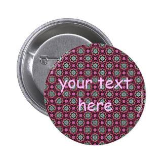 Cute kaleidoscopic tiny print 2 inch round button