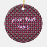 Cute kaleidoscopic tiny print christmas tree ornament
