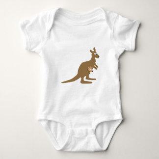 Cute Kangaroo and Joey Baby Bodysuit
