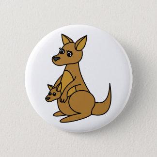 Cute Kangaroo and Joey Button