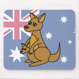 Cute Kangaroo and Joey Mouse Pad
