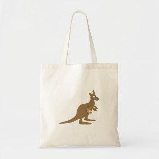 Cute Kangaroo and Joey Tote Bag