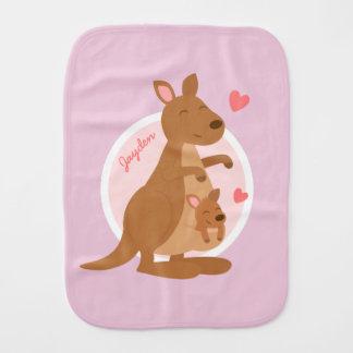 Cute Kangaroo Baby Joey Baby Burp Cloth