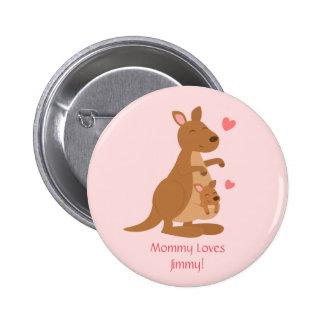 Cute Kangaroo Baby Joey For Kids Pinback Button