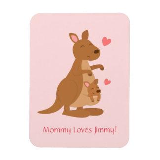 Cute Kangaroo Baby Joey For Kids Flexible Magnet