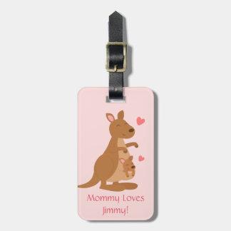 Cute Kangaroo Baby Joey For Kids Tag For Luggage