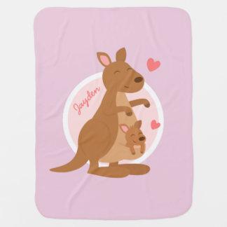 Cute Kangaroo Baby Joey Stroller Blanket