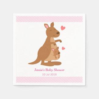 Cute Kangaroo Baby Shower Party Paper Napkin