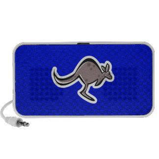 Cute Kangaroo Blue iPod Speakers