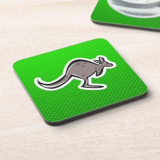 Cute Kangaroo; Green Coaster