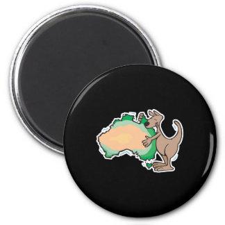cute kangaroo hugging australia fridge magnets