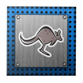 Cute Kangaroo; Metal-look Ceramic Tile