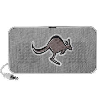 Cute Kangaroo Metal-look Speaker System