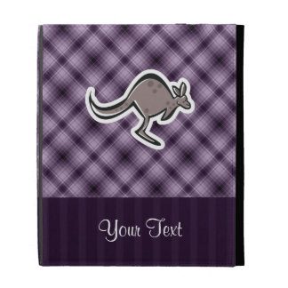 Cute Kangaroo; Purple iPad Cases
