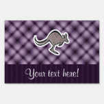 Cute Kangaroo; Purple Lawn Signs