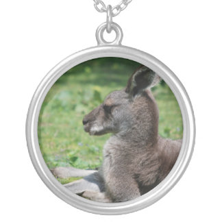 Cute Kangaroo Sterling Silver Necklace