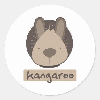 cute kangaroo classic round sticker