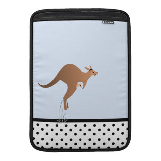 Cute kangaroo with baby in pouch sleeves for MacBook air