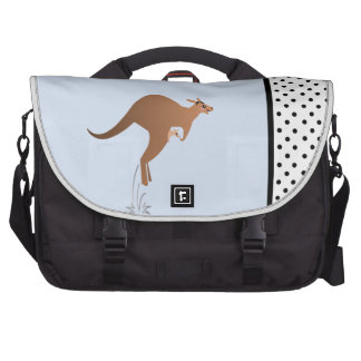 Cute kangaroo with baby in pouch bag for laptop