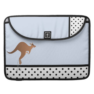 Cute kangaroo with baby in pouch sleeves for MacBook pro