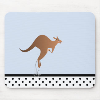 Cute kangaroo with baby in pouch mouse pad