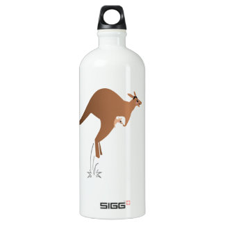 Cute kangaroo with baby in pouch SIGG traveler 1.0L water bottle