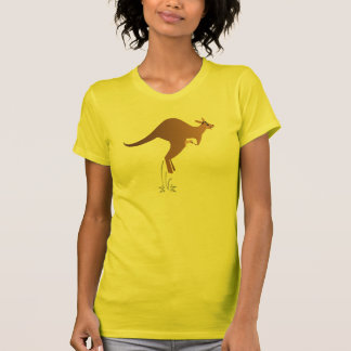 Cute kangaroo with baby in pouch T-Shirt