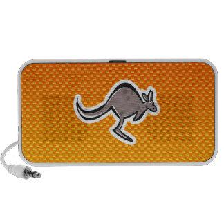 Cute Kangaroo Yellow Orange Mp3 Speakers