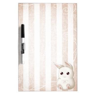 Cute Kawai Bunny Rabbit Dry Erase Whiteboard
