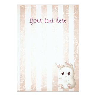 Cute Kawai Bunny Rabbit invitations