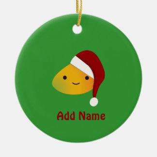 Cute Kawai Christmasi Mango Ceramic Ornament