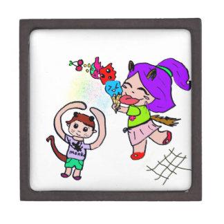 Cute Kawai Manga Ice cream Cat Girl Keepsake Box