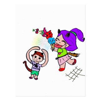 Cute Kawai Manga Ice cream Cat Girl Postcard