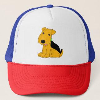 Cute Kawaii Airedale Terrier Puppy Dog Trucker Hat