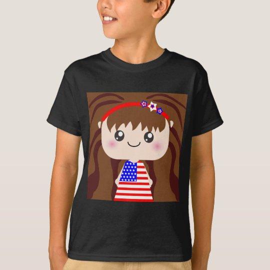Cute / Kawaii American July 4th Girl Squeable T-Shirt