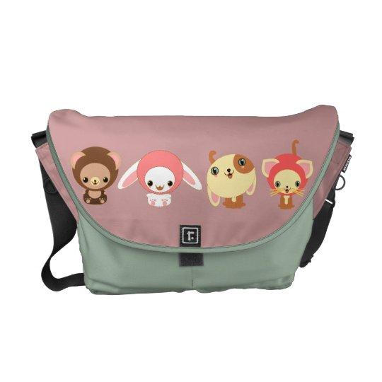 cute kawaii animal messenger bag
