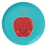 Cute  Kawaii Apple Plates