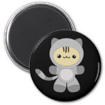 Cute kawaii astro kitty magnet