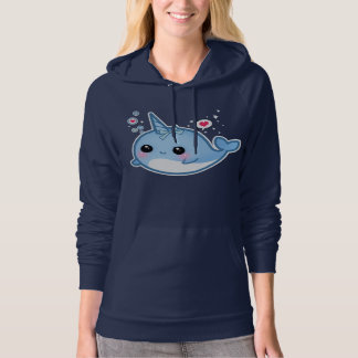 Cute kawaii baby narwhal pullover