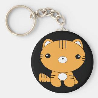 Cute kawaii baby tiger keychain