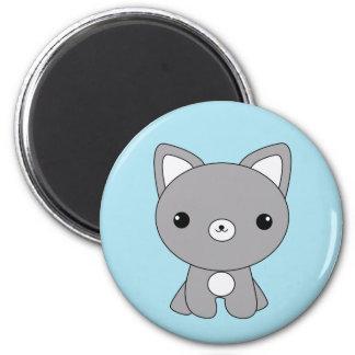 Cute kawaii baby wolf magnet