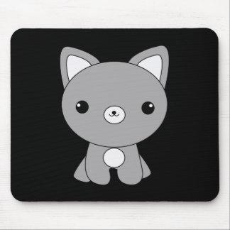 Cute kawaii baby wolf mousepad