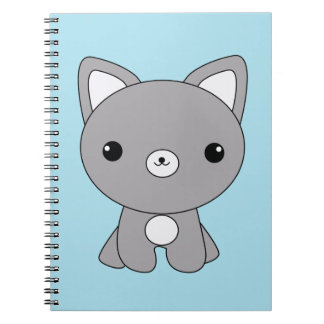 Cute kawaii baby wolf notebook