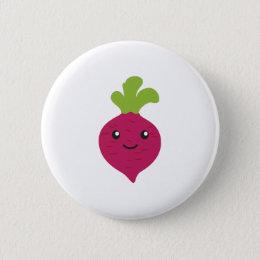 Cute Kawaii Beet Button