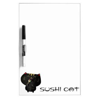 Cute Kawaii Black Sushi Cat Dry-Erase Boards